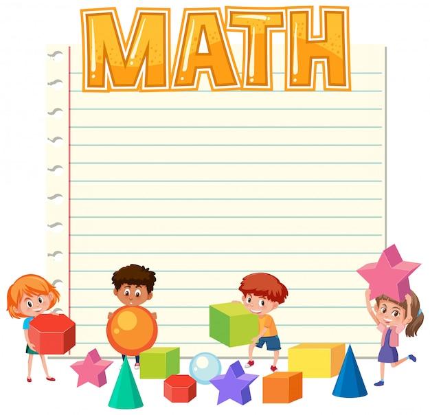 Math children on note template