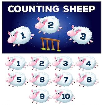 A math counting sheep