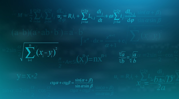 Math equation, mathematical, arithmetic formulas.