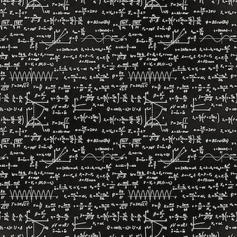 Math equations and formulas pattern
