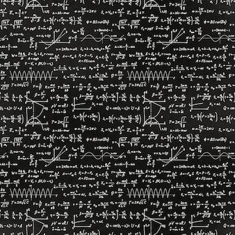 Math equations and formulas pattern