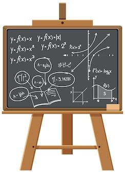 Math formula on blackboard isolated