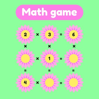 Math game for preschool and school age children.