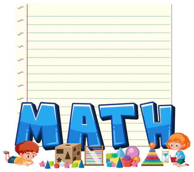 A math note template