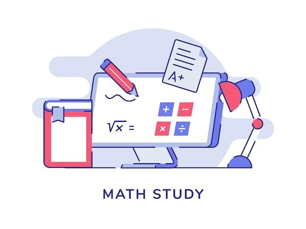 Math study calculation formula on computer