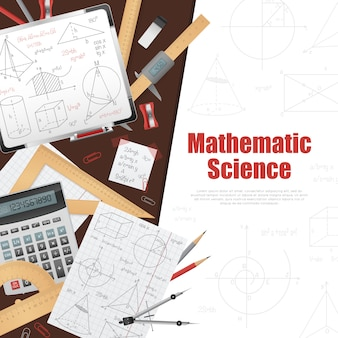 Mathematic science background poster