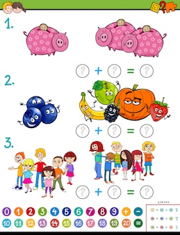 Mathematical addition puzzle for children