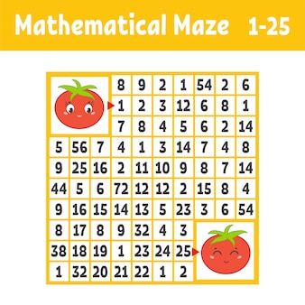 Mathematical colored square maze. help one tomato get to another.