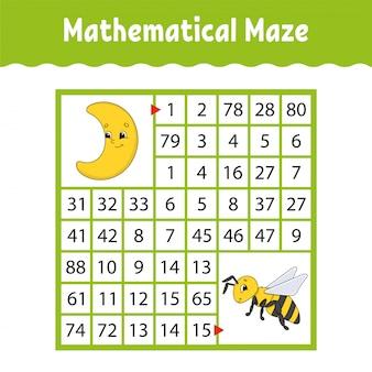Mathematical colored square maze.