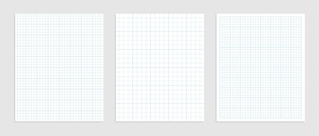 Mathematical graph paper set for data representation