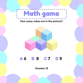 Mathematical logic game for preschool and school age children.