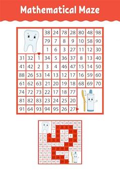 Mathematical maze.