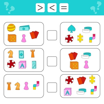 Mathematical puzzle game learning mathematics tasks for preschool children