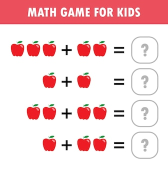 아이들을위한 계산 추가 워크 시트를 배우는 어린이를위한 수학 교육 게임