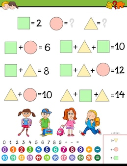 Maths calculation educational game for children