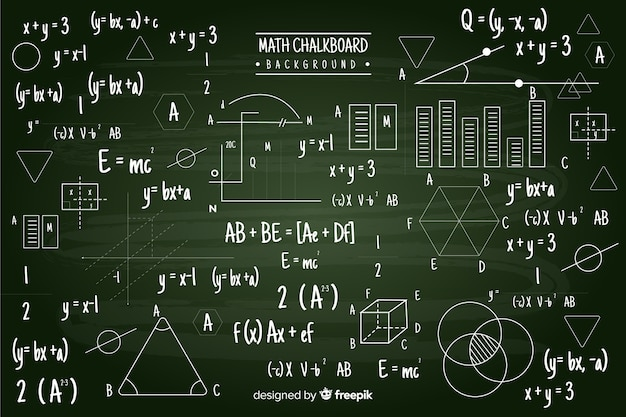 Maths chalkboard