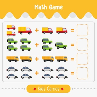 아이들을위한 그림이있는 수학 게임 유치원 아이들을위한 쉬운 수준의 교육 게임