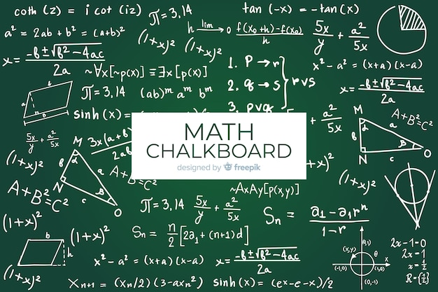 Maths realistic chalkboard background
