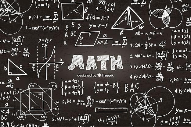 수학 현실적인 칠판 배경