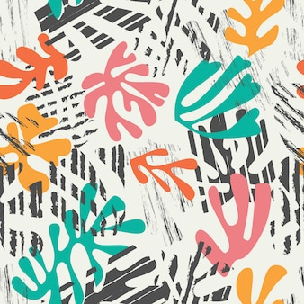 Matisse inspired shapes seamless pattern