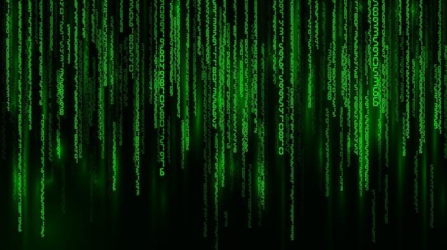 Матрица. числа падения. задний план