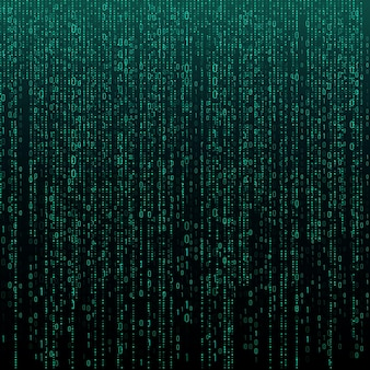숫자가 있는 매트릭스 텍스처입니다. 이진 코드, 추상 미래 사이버 공간 배경입니다. 데이터 분석 패턴