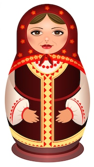 Matryoshka doll also known as babushka doll, stacking doll, nesting doll or russian tea dolls