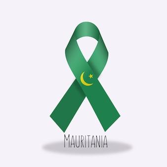 Disegno del nastro della bandiera della mauritania