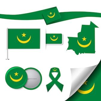 Collezione di elementi rappresentativi della mauritania