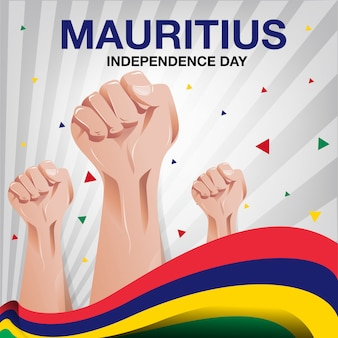 Mauritius independence day background