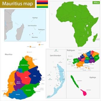 Карта маврикия
