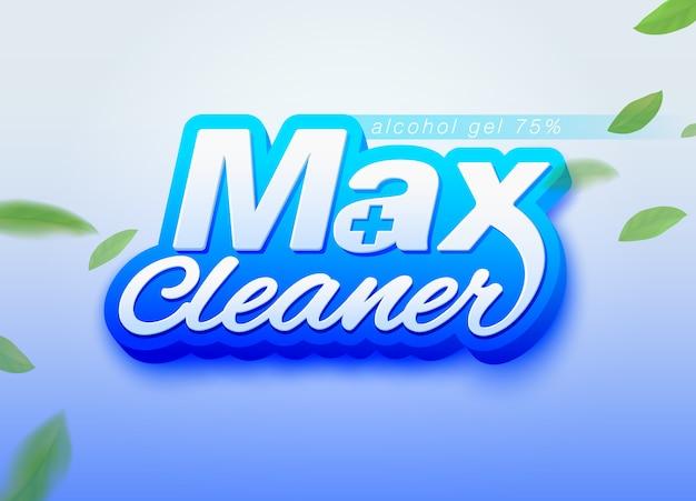 マックスクリーナーアルコールゲルデザインテンプレートのパッケージ化。アルコールジェル、手洗いジェル、消毒剤、洗剤として使用されます。