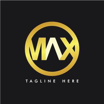 Max logo template design