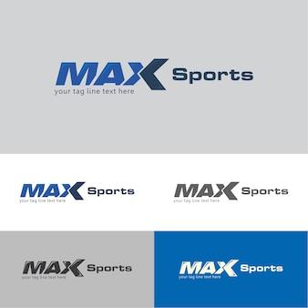 Шаблон логотипа max sports