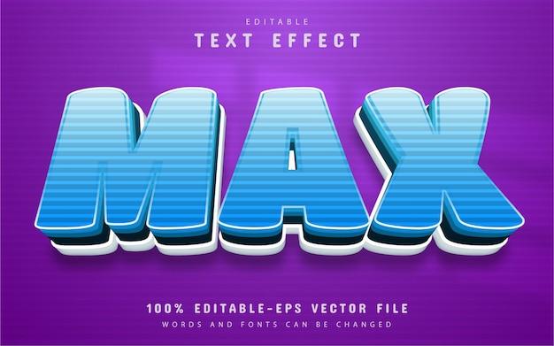 Max text, cartoon style text effect editable