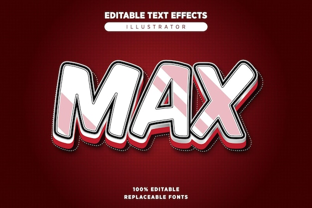Max text effect editable