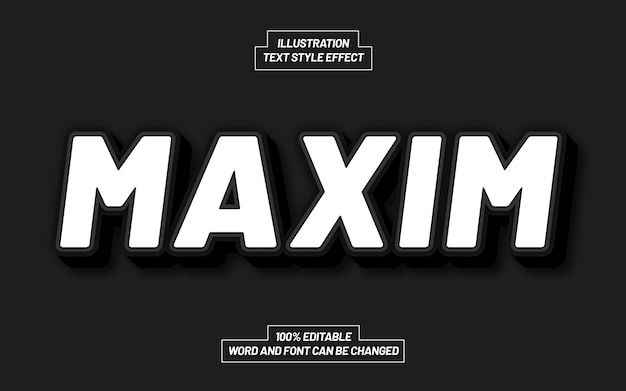 Maxim bold text style effect