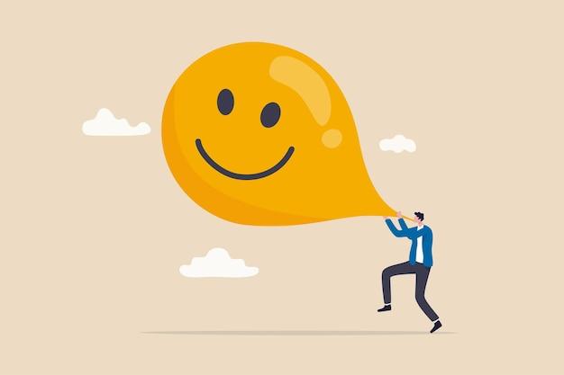 행복을 극대화하고 불안을 풀어주고 긍정적 인 개념을 생각하십시오.