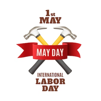 May 1st. labor day background template.
