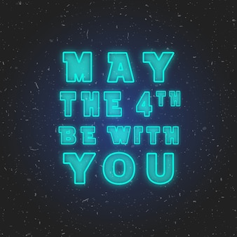 May the 4th be with you. vector illustration.