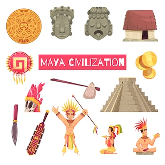 Maya civilization set