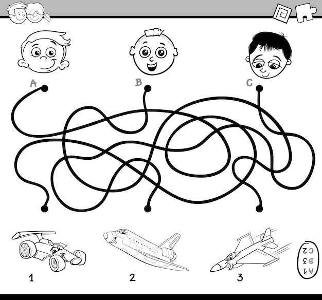 Maze activity for coloring