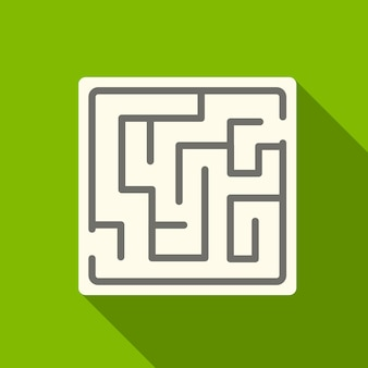 Maze flat icon illustration isolated vector sign symbol