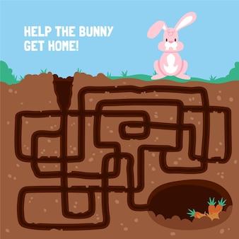 子供のための迷路イラスト