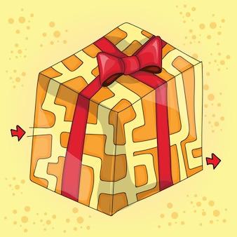 Maze game for children - vector illustration - funny gift