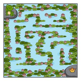 미로 게임, 어린이 교육 게임, 개구리와 왕관
