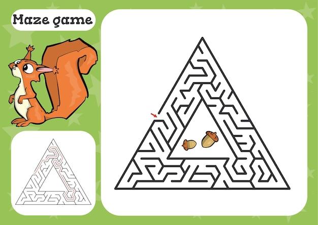 子供のための迷路ゲームかわいい漫画のワークシートのイラスト
