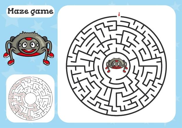Игра лабиринт для детей с пауком