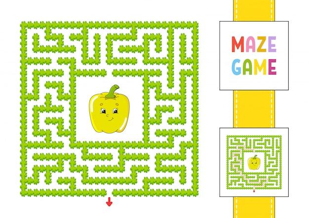 Лабиринт. игра для детей. забавный лабиринт. рабочий лист развития образования. страница активности.