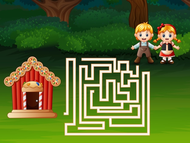 Maze game of hansel and gretel